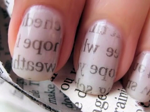 Newspaper Comic Nails Newspaper-nails