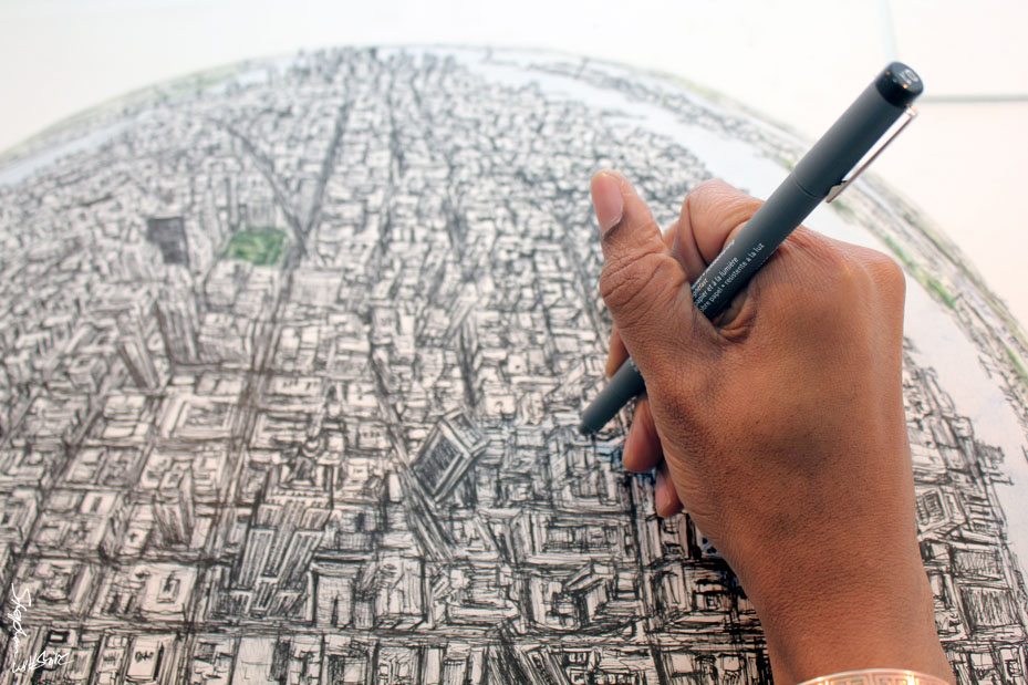 Drawing_Globe_of_New_York