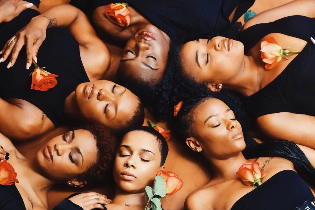 Group of black women