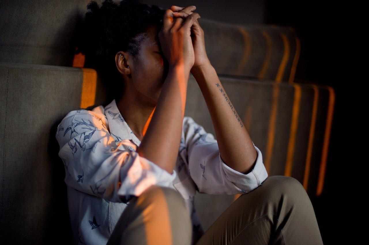 upset black woman